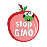 Stop gmo with worm color vector Royalty Free Stock Photography