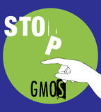 Stop GMOs Concept Design Royalty Free Stock Photography