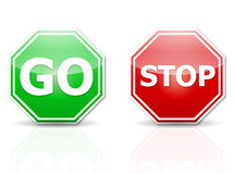 Stop and go Royalty Free Stock Images