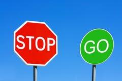 Stop & Go Stock Image