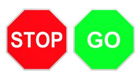 Stop Go. Illustrated stop and go signs Royalty Free Stock Image