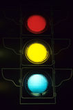Stop, go, caution. Stop Light store sign light up Royalty Free Stock Image