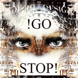 Stop and go Royalty Free Stock Photo