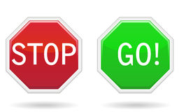 Stop & Go Signs Stock Photography