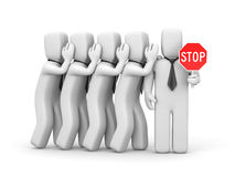 Stop the gossip. Business metaphor Royalty Free Stock Image