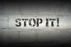 Stop it GR Royalty Free Stock Photography