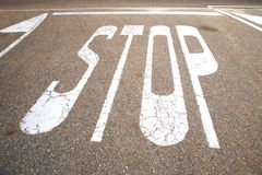 Stop on ground Royalty Free Stock Photography