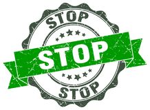 Stop stamp Royalty Free Stock Image