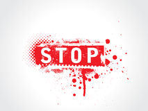 Stop grunge text. With halftone Stock Images