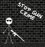 Stop gun crime Royalty Free Stock Photography