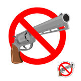 Stop gun. Prohibited entry of weapons. Royalty Free Stock Images