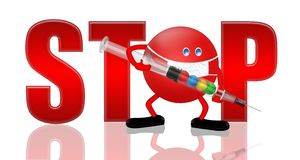 STOP! H1 N1. Health Concept,3D&Computer generated Royalty Free Stock Photography