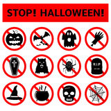 Stop Halloween Signs Stock Photography