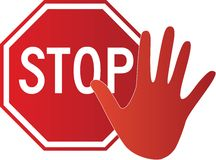 Stop hand Stock Image