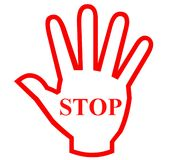 Stop Hand Royalty Free Stock Images