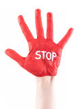 Stop Hand Royalty Free Stock Photo