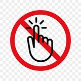 Stop hand finger sign vector no touch icon. Stop hand or finger touch switch vector warning sign icon Stock Photo