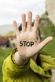 Stop Hand Gesture Stock Photos
