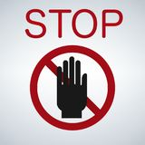 Stop hand icon Royalty Free Stock Photo