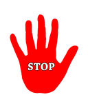 Stop hand sign Royalty Free Stock Images