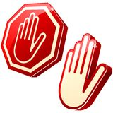 Stop-hand sign Royalty Free Stock Photography