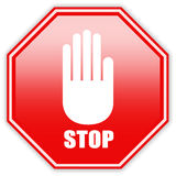 Stop hand sign Stock Photos