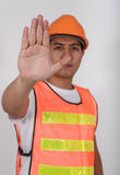 Stop Hand Signal Stock Image