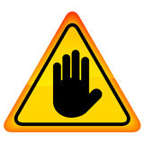 Stop hand vector sign Royalty Free Stock Images