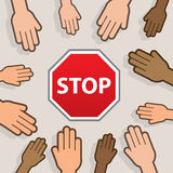 Stop Hands Royalty Free Stock Photo