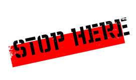 Stop Here rubber stamp Stock Photography