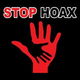 Stop hoax in black background royalty free illustration