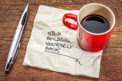 Stop holding yourself back Royalty Free Stock Photos