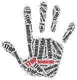 Stop homicide. Royalty Free Stock Photography