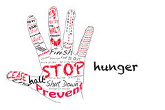 Stop Hunger Stock Image