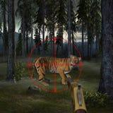 Stop Hunting Wildlife Animal Illustration Stock Photography