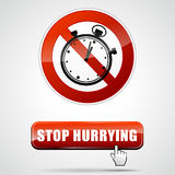 Stop hurrying Stock Images