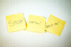 Stop! I love You! HELP ME! Royalty Free Stock Images