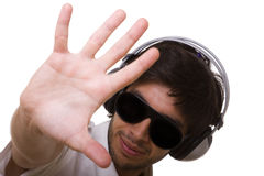Stop! I want my music! Royalty Free Stock Images