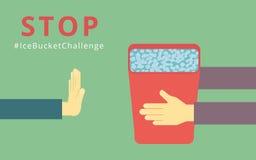 Stop Ice Bucket Challenge Royalty Free Stock Image