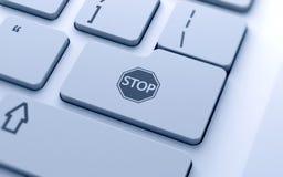 STOP icon button Stock Photos