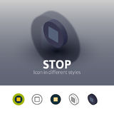 Stop icon in different style Royalty Free Stock Photos