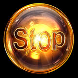 Stop icon glass Royalty Free Stock Photo