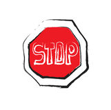 Stop icon, road signs Stock Photo