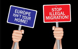 Stop illegal migration Stock Photography