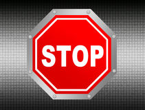 Stop illustration Royalty Free Stock Images