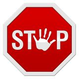 Stop Image. Conceptual Image: Stop with a hand vector illustration