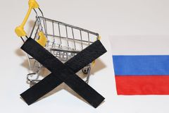 Stop of import to Russia Stock Photo
