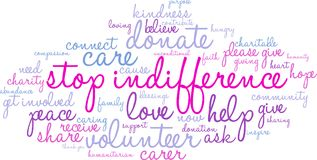 Stop Indifference Word Cloud Royalty Free Stock Image