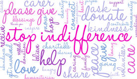 Stop Indifference Word Cloud Royalty Free Stock Images
