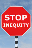Stop Inequity concept Royalty Free Stock Image